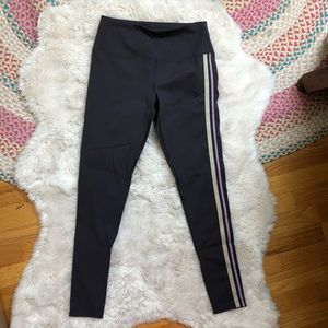 Free People Movement Dark Purple Side Stripe Pants